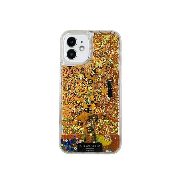 ARTiFY iPhone 12 mini グリッターケース クリムト 生命の樹 ゴールド AJ00622