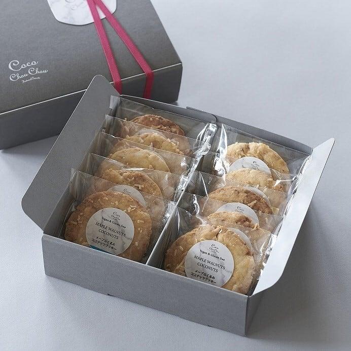 ★通販ショップ移転★メープルくるみココナッツクッキー(10枚)《 卵・バター・乳・小麦粉・白砂糖不使用 ヴィーガン&グルテンフリー 常温》