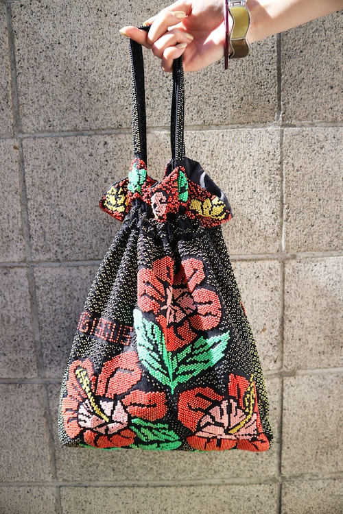 Hibiscus beads bag