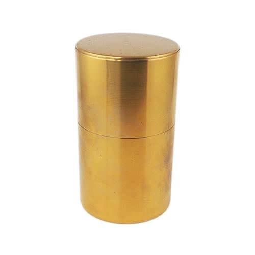 開化堂 茶筒 長型200g 真鍮