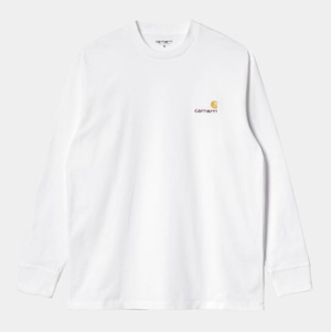 Carhartt (カーハート) L/S AMERICAN SCRIPT T-SHIRT - White