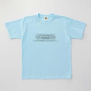 鉄道Tシャツ 台車 ( Light Blue × Dark Gray)