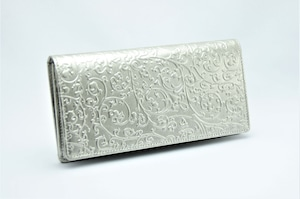 長財布(薄型)プラチナ箔・アラベスク柄・プレミアム