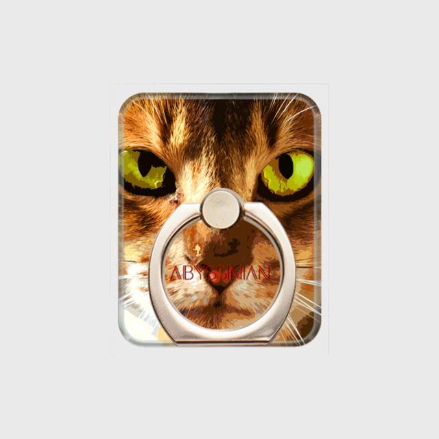 アビシニアン おしゃれな猫スマホリング【IMPACT -color- 】