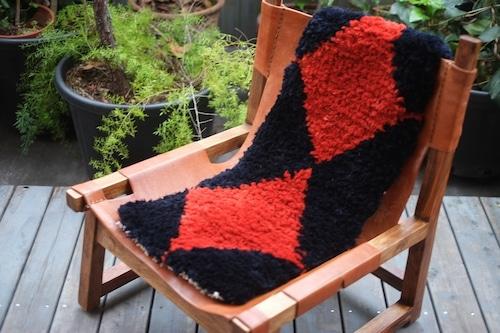 佐藤さんのノッティング  <手織りの椅子敷き><ロングタイプ> 41.