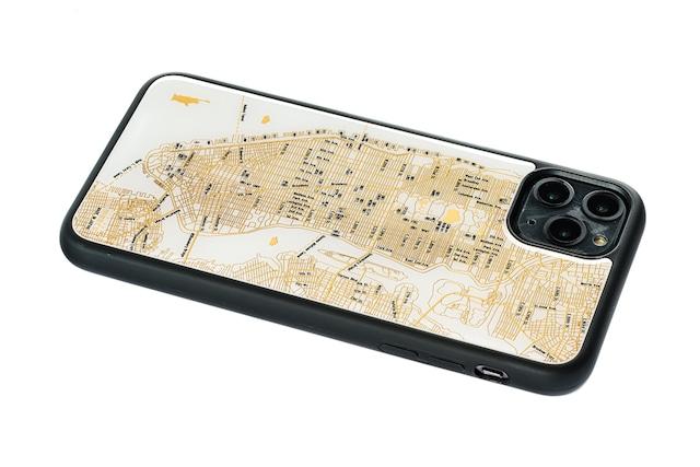 FLASH NY回路地図 iPhone 11 ProMax ケース  白【東京回路線図A5クリアファイルをプレゼント】