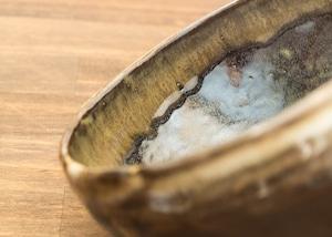 黒蕎麦釉 深鉢/鶴田季子