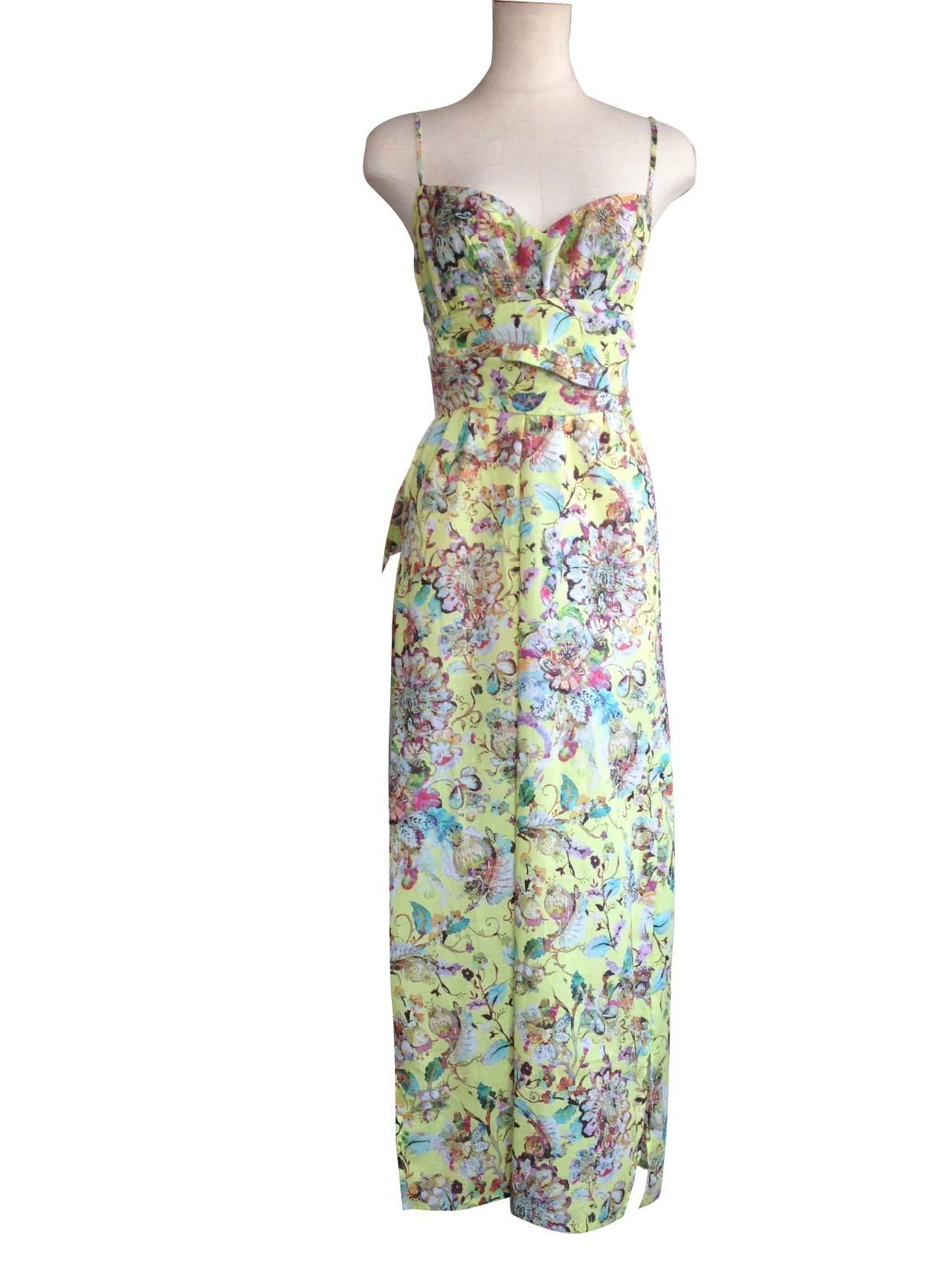 3Ways Maxi Dress Botanical Yellow マキシドレスボタニカルイエロー