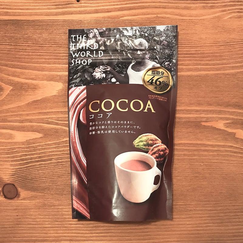 フェアトレードカカオのおいしいココア【砂糖・粉乳不使用】