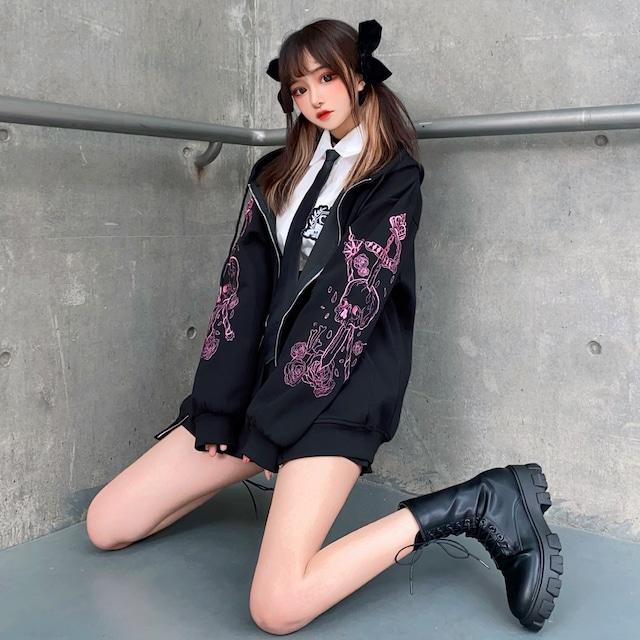 【アウター】シンプルスポーツ通学ストリート系ファッション長袖ジャケット52807196