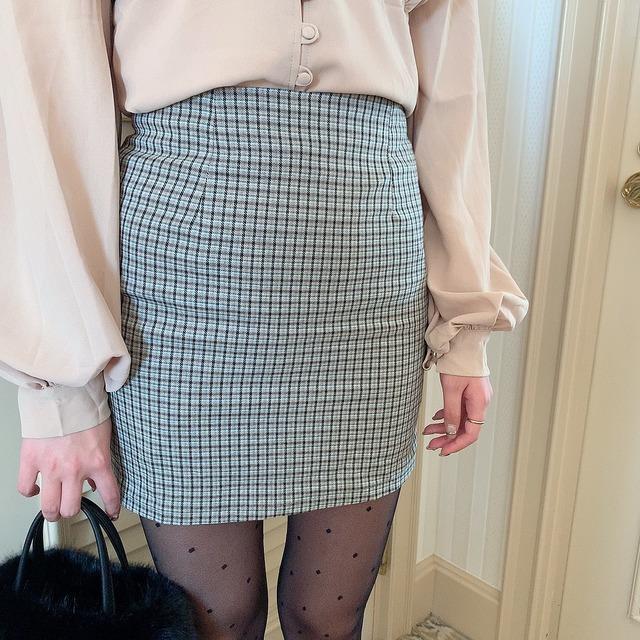 retro check skirt