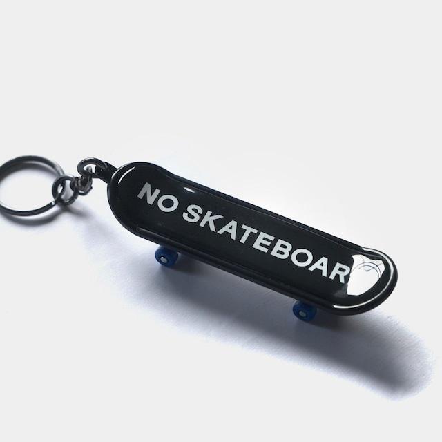 NO SKATEBOARD LOGO KEY CHAIN