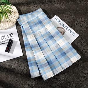 プリーツスカート 大きいサイズ 安全パンツ 制服スカート 女子スクールスカート チェック柄 カーキ 女子高生 JKスカート ミニスカート 2963
