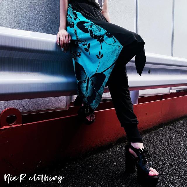フラップ付きSARROUEL PANTS【emerald butterfly】