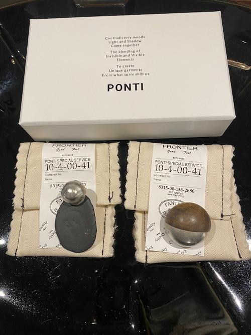 PONTI pierced earrings