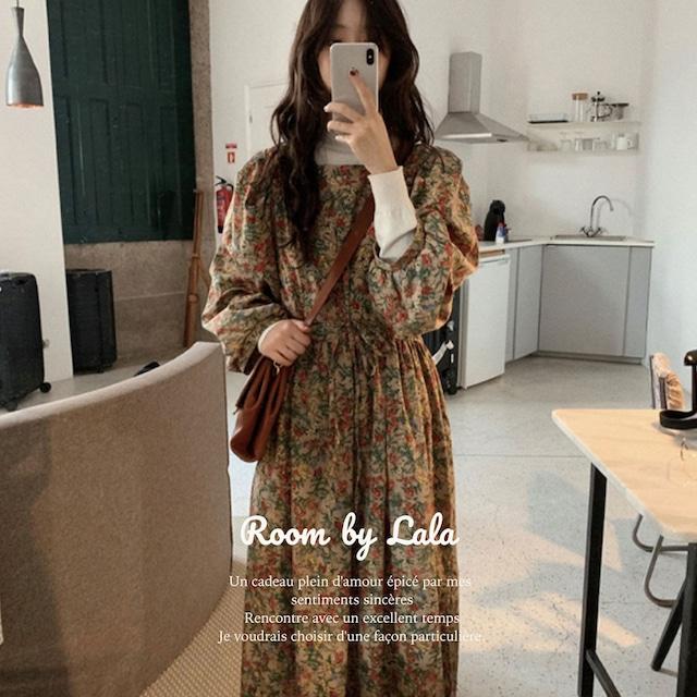 【即納】Autumn flower dress / ドレス / LE202225