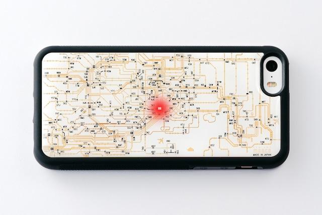 FLASH 東京回路線図 iPhone SE(第1世代)/5/5s  ケース 白【東京回路線図A5クリアファイルをプレゼント】