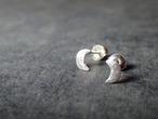三日月と有明月 earrings