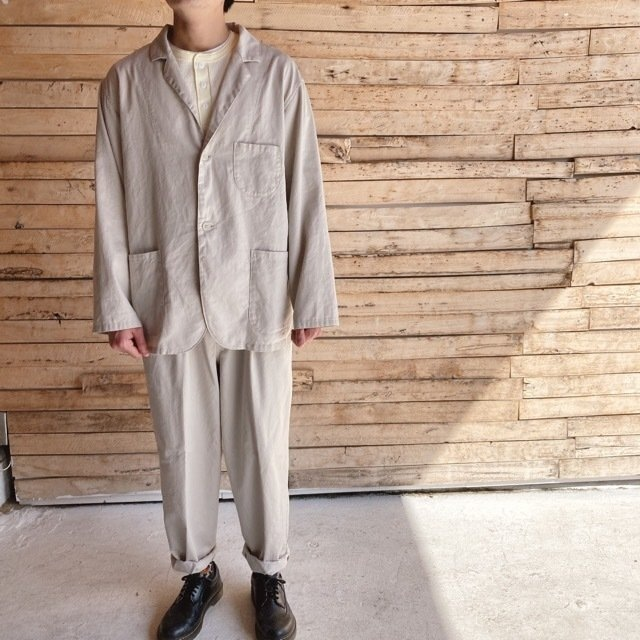 LOLO(ロロ) ツイルシャツジャケット オイスター