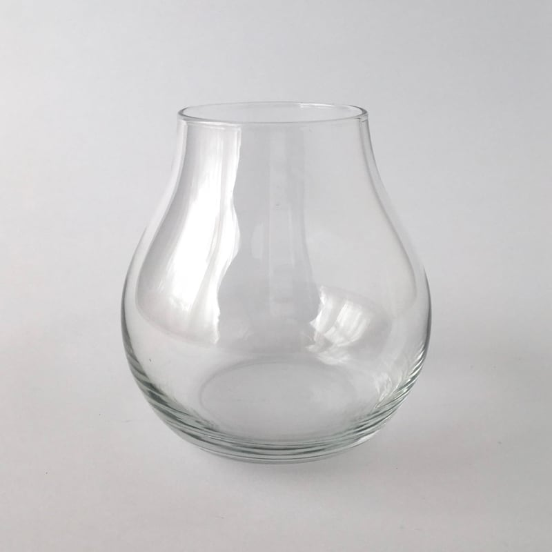 【訳ありセール】ランプ型のガラスの花瓶|【Substandard】Lamp Shade Glass Vase