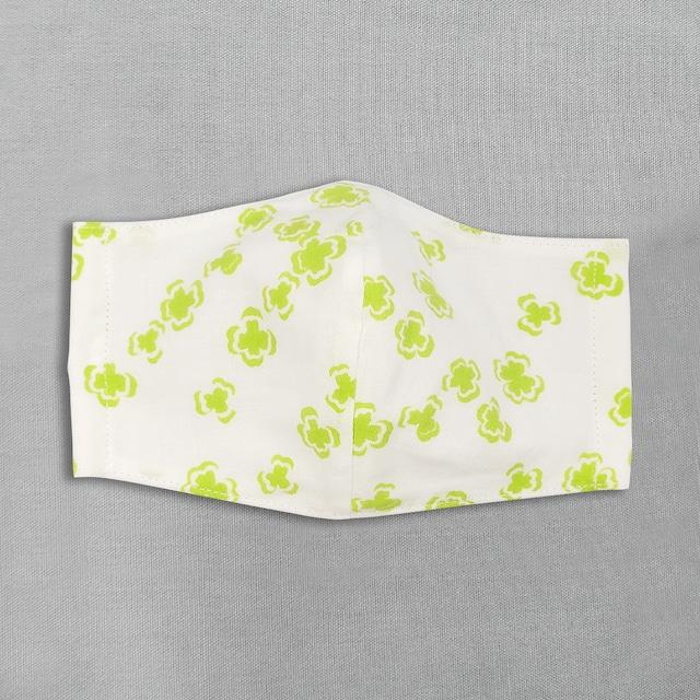 デザイナーズ マスク|よつ葉|黄緑