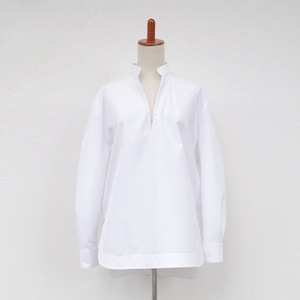 SINME Vネックオープンシャツ ホワイト