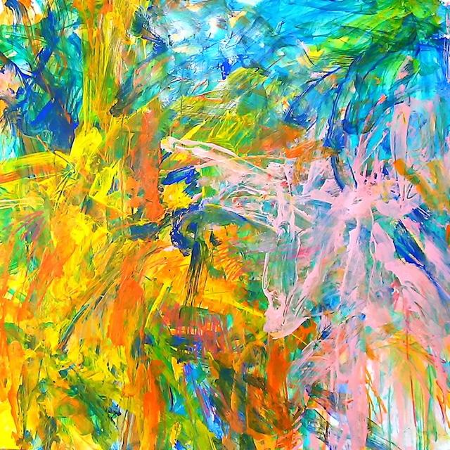 絵画 絵 ピクチャー 縁起画 モダン シェアハウス アートパネル アート art 14cm×14cm 一人暮らし 送料無料 インテリア 雑貨 壁掛け 置物 おしゃれ ロココロ 現代アート 抽象画 画家 : tamajapan 作品 : t-20