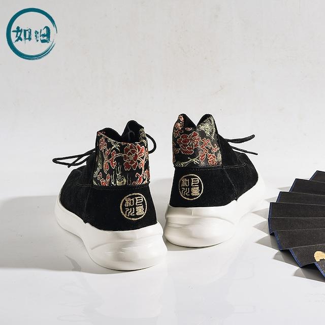 【如旧シリーズ】★靴★ メンズ 刺繍 ブーツ カジュアルシューズ チャイナ風靴 サイズ39 40 41 42 43 44 独特なデザイン