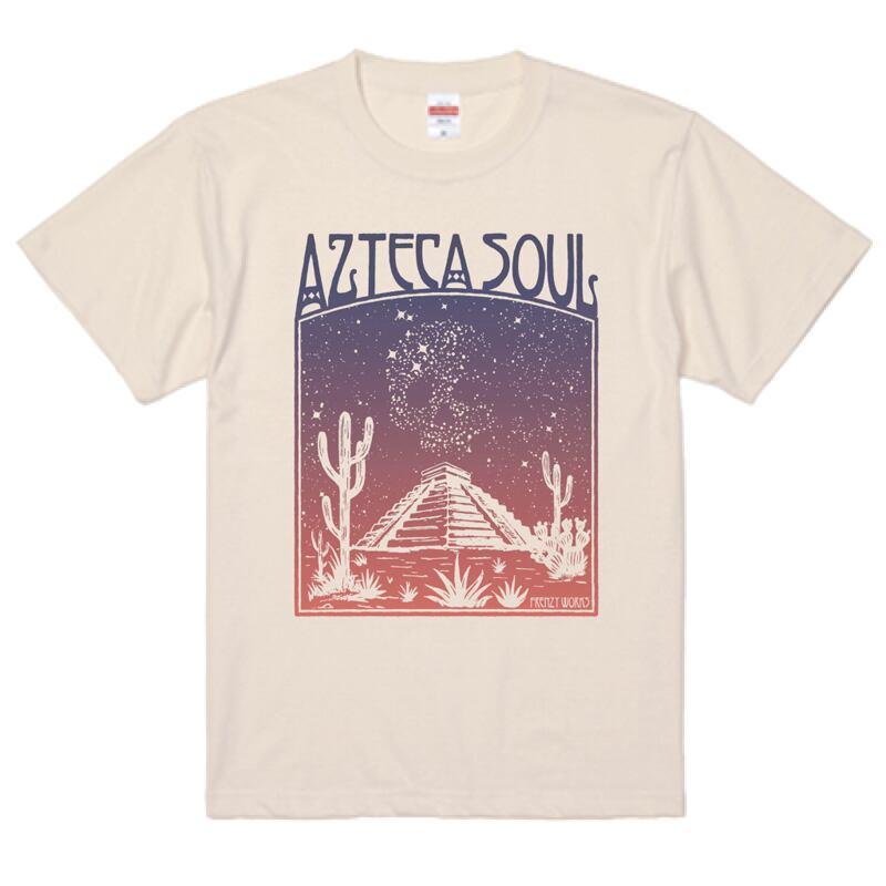 AZTECA SOUL アステカ族の魂 アステカ ソウル ナチュラルTシャツ