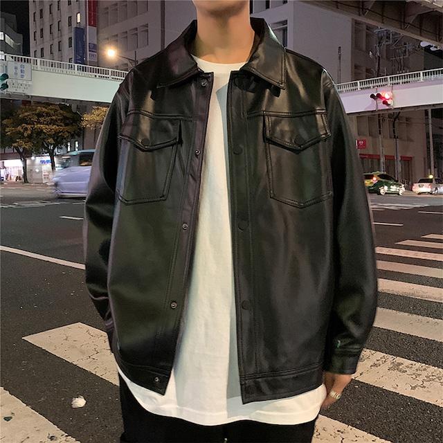 《即納》ブラックレザージャケット