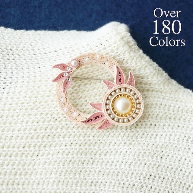 180色以上から選べる♪minamoノhanaブローチ, 紙のペーパージュエリー, ペーパークイリングアクセサリー
