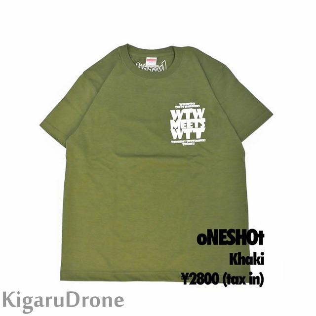 WTW x WTT x TTT コラボ 限定Tシャツ oNESHOtタイプ カーキ