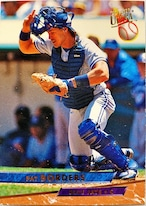 MLBカード 93FLEER Pat Borders #287 BLUE JAYS