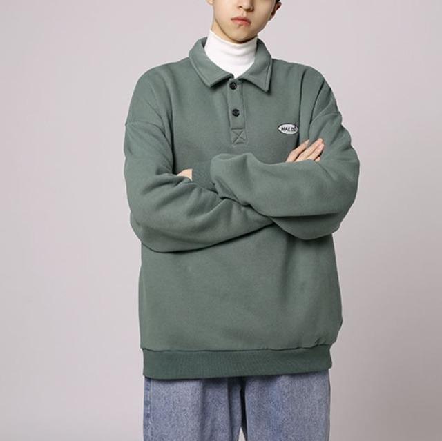 【翌日発送/数量限定】Front button sweatshirt LD0180