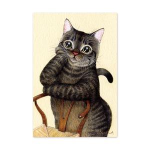 24.ねことお気に入りの椅子 ポストカード / My Favorite Chair Postcard