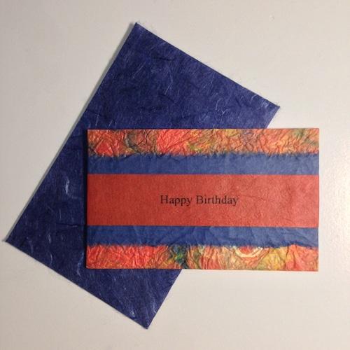 和紙の誕生日カード(Birthday026)