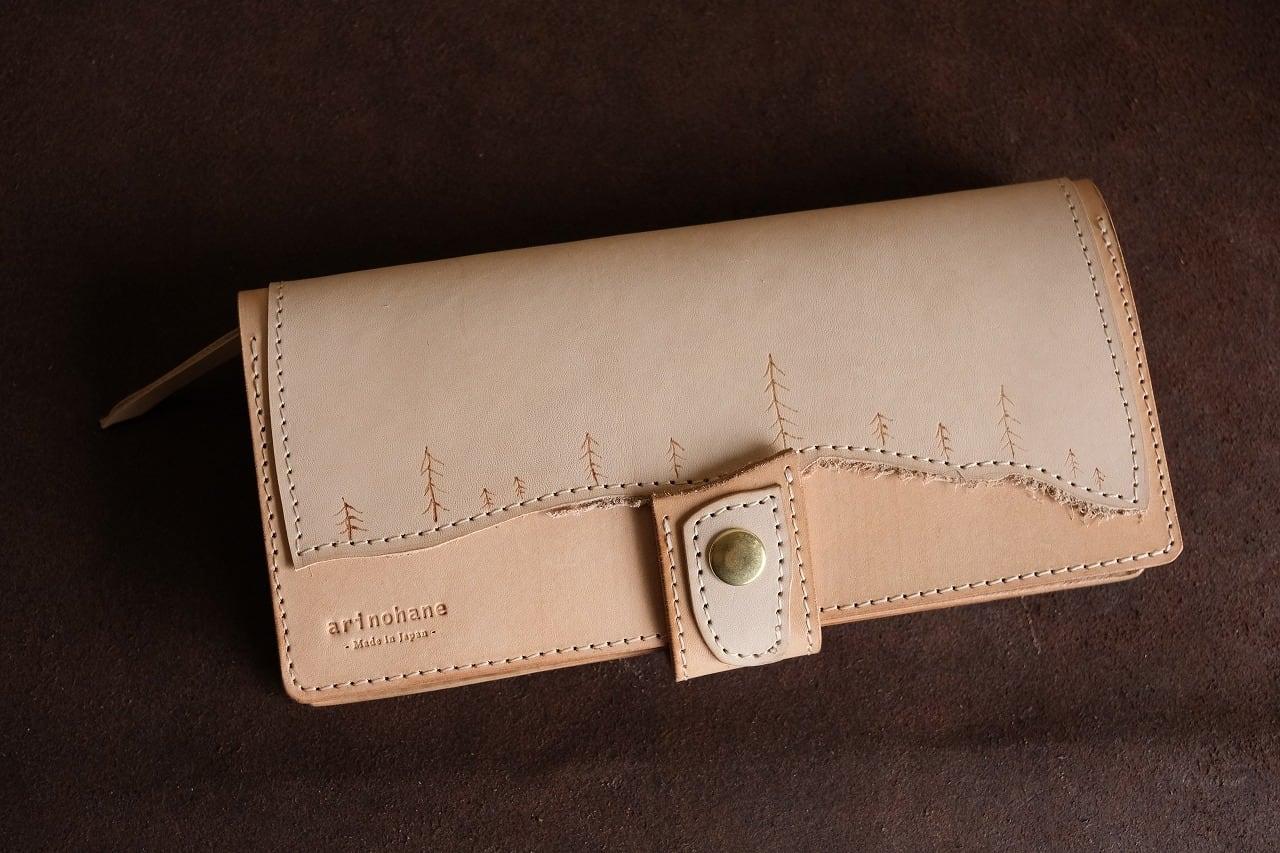 シンリンのヌメ革の長財布 No.001