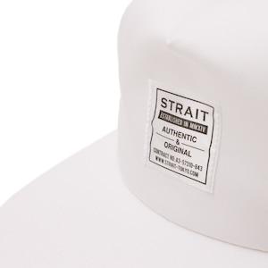 TAG 5PANEL SNAPBACK CAP #WHITE