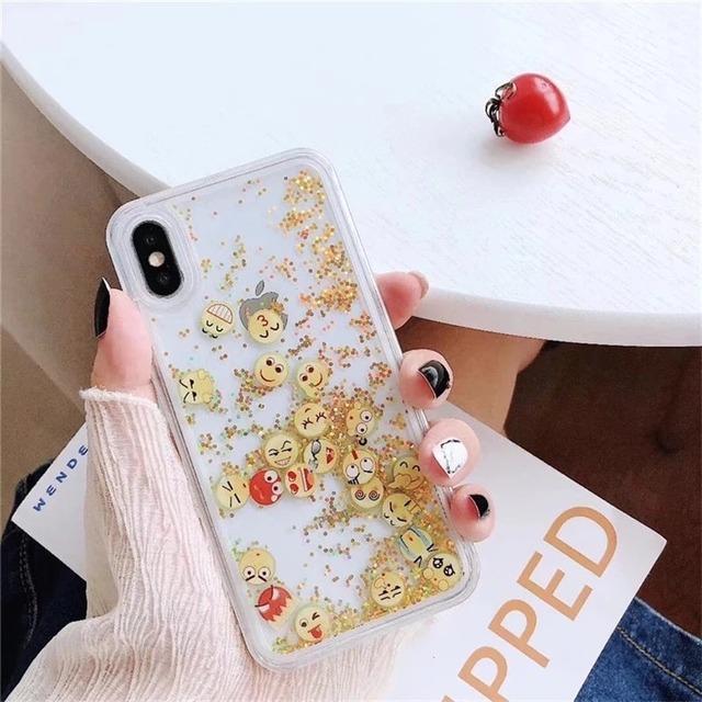 流れる♪ face glitte iphone case