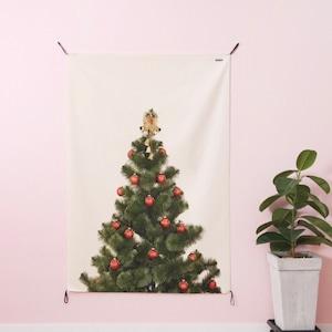 Christmas three fabric poster LL size 5types / クリスマスツリー ファブリックポスター タペストリー 韓国雑貨 北欧