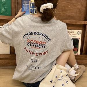 screen ロゴプリントTシャツ YH6386