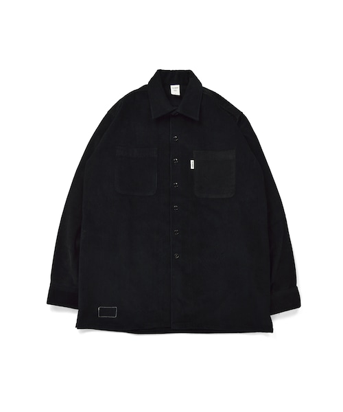 Corduroy Over Work Shirt / BLACK