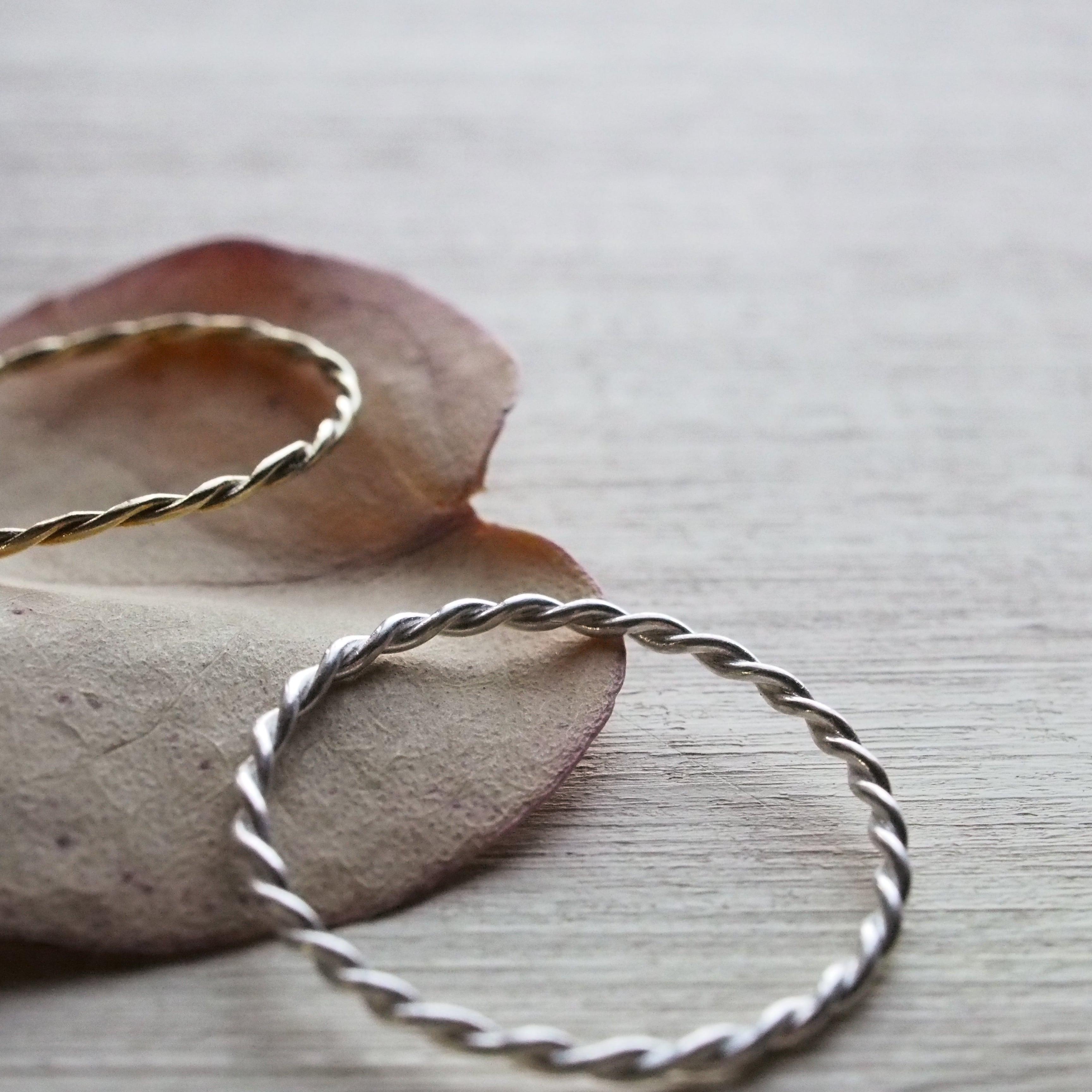 spiral ring(brass)