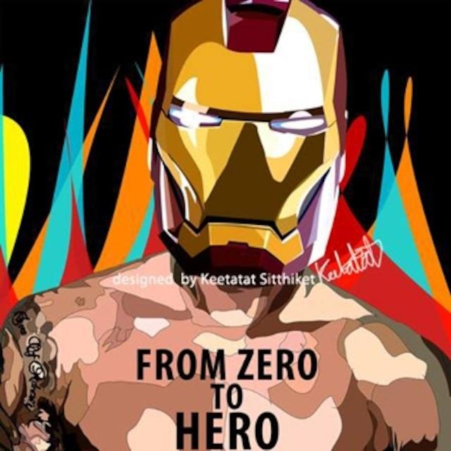 アイアンマン ゼロ/ IRONMAN ZERO TO HERO / Lサイズ 52cm / PAPMA_0058
