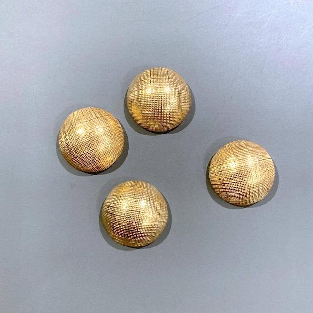 USA真鍮 細格子ラインカボション