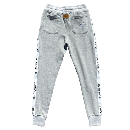 Leather Patch Sweat Pants 【Grey】
