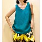 【hippiness】cupro 2way tank top (emerald green)/【ヒッピネス】キュプラ 2way タンクトップ(エメラルド グリーン)