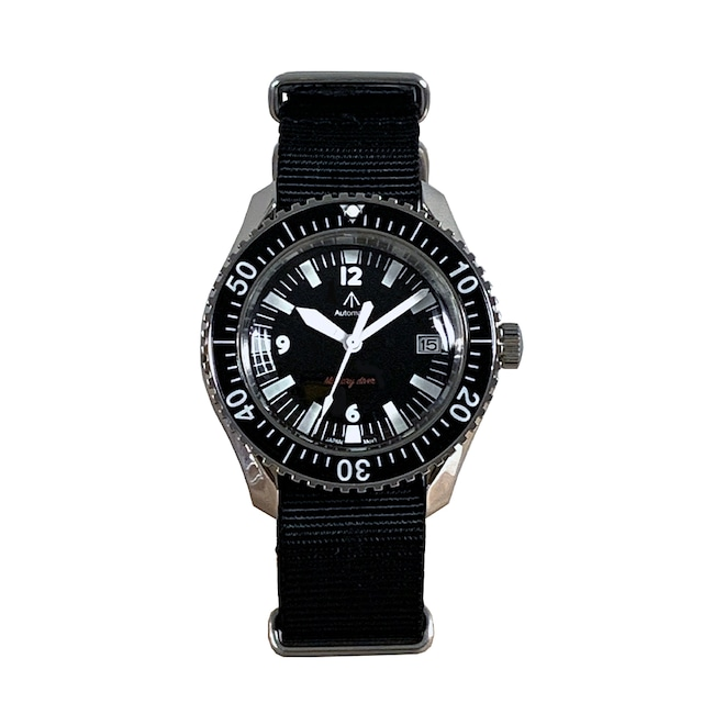 NAVAL MILITARY WATCH MIL.-05 SV/BK Automatic ROYAL Military Diver TYPE