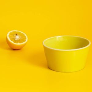 aito製作所 「シエル Ciel」きほんのうつわ 小鉢 ふた付レンジパック(キャニスター) 直径約10×深さ6cm イエロー 美濃焼 520132