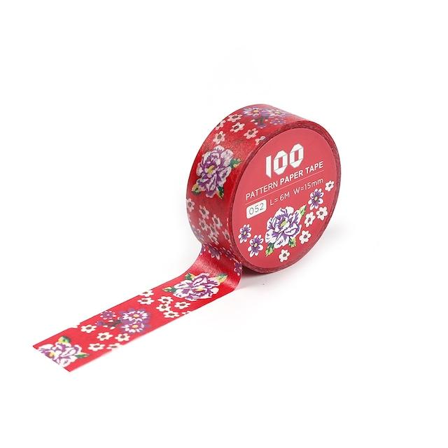 マスキングテープ 台湾伝統花布(赤)